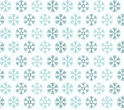 Seamless pattern with blue christmas snowflakes Stock Image