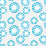 Seamless pattern with blue circles Stock Image
