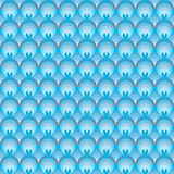 Seamless  pattern with blue circles Stock Photography