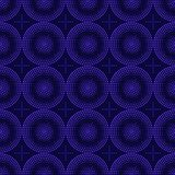 Seamless pattern of blue circles halfton. Art abstract point geometric seamless pattern background in blue, white and black colors royalty free illustration
