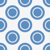 Seamless pattern with blue circles and rings royalty free stock photography