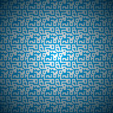 Seamless background. Seamless pattern of blue color in the form of the maze. Vector illustration Stock Photos