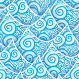Seamless pattern blue cyan sea wave Royalty Free Stock Photography