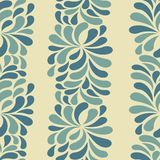Seamless pattern with blue drops Royalty Free Stock Photos