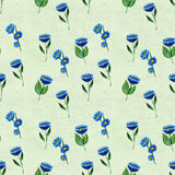 Seamless pattern with blue flowers Stock Photography