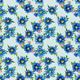 Seamless pattern with blue flowers Royalty Free Stock Image