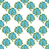 Seamless pattern of blue forget-me-not bouquets Royalty Free Stock Image