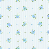 Seamless pattern with blue forget-me-not flowers. Vector illustration. Royalty Free Stock Images