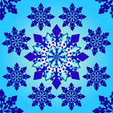 Seamless pattern on a blue gradient background. Vector Royalty Free Stock Images