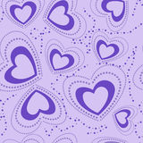 Seamless pattern with blue hearts Stock Image