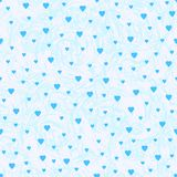 Seamless pattern from the blue hearts and abstract background. Vector illustration Stock Photo