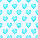 Seamless pattern with blue hearts royalty free illustration