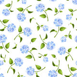 Seamless pattern with blue hydrangea flowers. Vector illustration. Royalty Free Stock Image