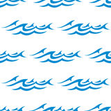 Seamless pattern of blue ocean waves Stock Photography