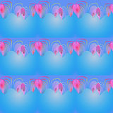 Seamless pattern blue pink violet red Royalty Free Stock Image