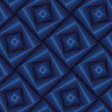 Seamless pattern with blue quadratic forms Stock Photos