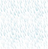 Seamless pattern of blue rain water drops on white. Stock vector illustration Royalty Free Stock Photography