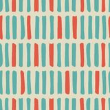 Seamless pattern with blue and red shabby strokes or lines on beige background. Abstract modern background. Vector illustration. geometry pattern for print vector illustration