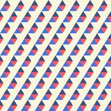 Seamless pattern of blue, red triangles Stock Image