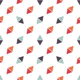 Seamless pattern with blue and red triangles. Seamless pattern with red and blue triangles Royalty Free Stock Images