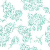Seamless pattern blue rose Stock Photos