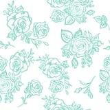 Seamless pattern blue rose Stock Photos