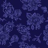 Seamless pattern blue rose Stock Photo