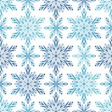 Seamless pattern with snowflakes vector illustration