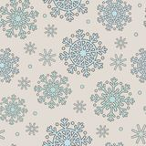 Seamless pattern with blue snowflakes Royalty Free Stock Images