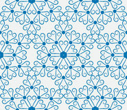 Seamless pattern with blue snowflakes. Vector seamless pattern with blue snowflakes Royalty Free Stock Photo