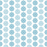 Seamless pattern with blue snowflakes. On white background Stock Photos