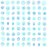 Seamless pattern. Blue squiggles texture. Stock Photos