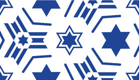 Seamless pattern, with a blue star of David. Stock Images
