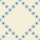 Seamless pattern with blue sun shapes. Royalty Free Stock Photography