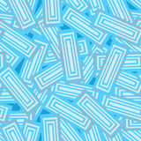 Seamless pattern in blue tones of the striped rectangles. Seamless pattern in cool tones of light blue striped rectangles that lie arbitrarily on each other Royalty Free Stock Photo
