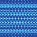 Seamless pattern of blue triangle and circle Royalty Free Stock Photo