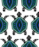 Seamless pattern of blue turtles Royalty Free Stock Photography