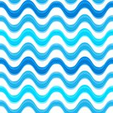Seamless pattern with blue watercolors painted stock photography