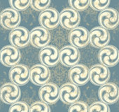 Seamless pattern with blue waves Stock Photos