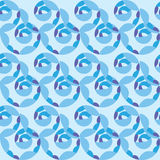 Seamless pattern of blue waves of the sea Royalty Free Stock Image