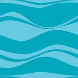 Seamless pattern with blue waves Stock Image