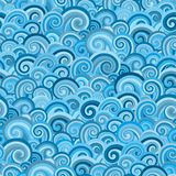 Seamless pattern with blue waves stock photo
