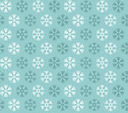 Seamless pattern with blue and white christmas snowflakes  Royalty Free Stock Images