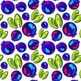 Seamless pattern of blueberries royalty free stock photos