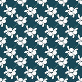 Seamless pattern with blueberries Royalty Free Stock Image