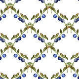 Seamless pattern with  blueberry Royalty Free Stock Photo