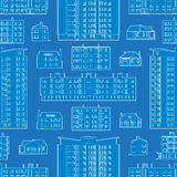 Seamless pattern with blueprint of dwelling Royalty Free Stock Photos