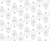 Seamless pattern in boho style stock illustration