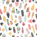 Seamless pattern with boho vintage tribal ethnic colorful  Stock Images