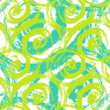 Seamless pattern with bold swirling brush strokes Stock Photo